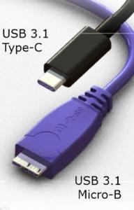 Так выглядит штекер нового стандарта рядом с уже используемым в мобильных устройствах и накопителях USB 3.1 Micro-B