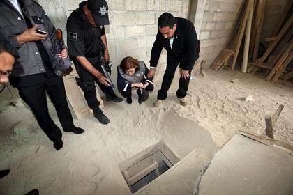 Вход в тоннель, по которому Эль-Чапо покинул тюрьму