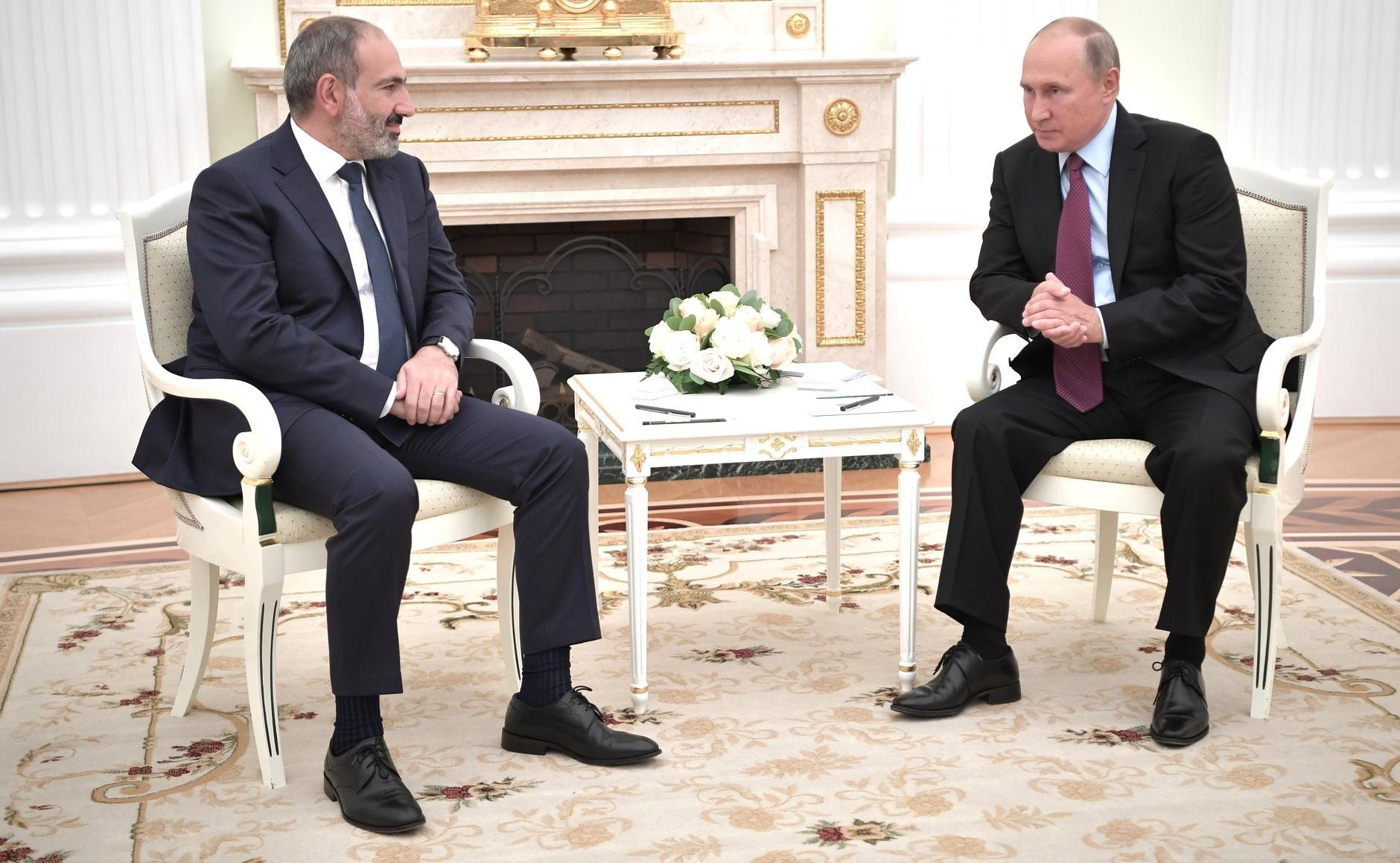 В Кремле состоялась встреча Владимира Путина с Николом Пашиняном