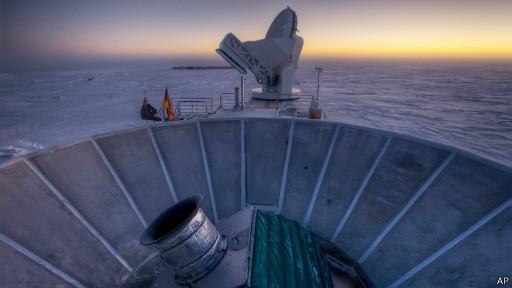 Телескоп на Южном полюсе является частью американской астрофизической обсерватории