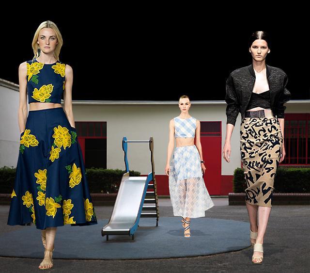 Костюм на выход: кроп-топ и длинная юбка
