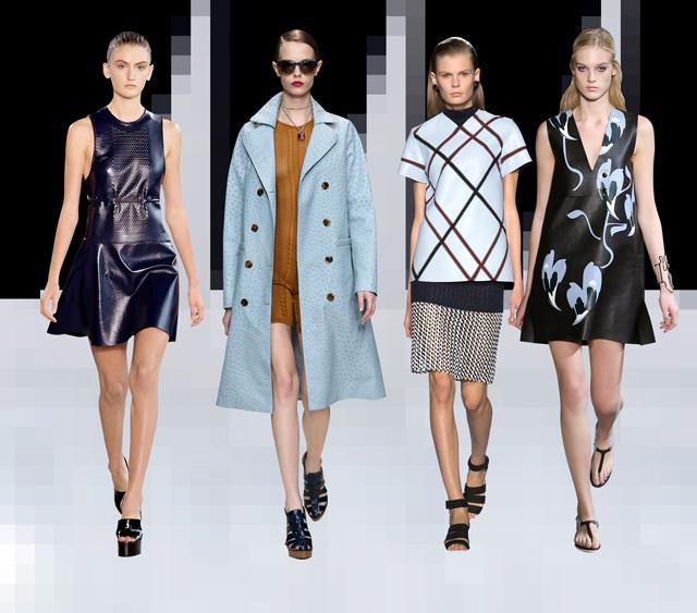 Вещи из кожи: пальто, костюмы, юбки